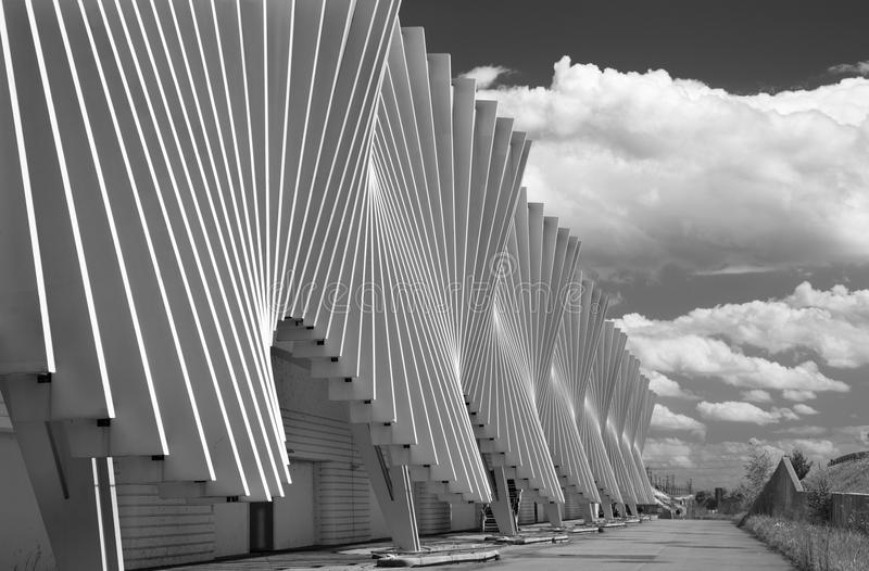 REGGIO EMILIA, ITALY - APRIL 13, 2018: The Reggio Emilia AV Mediopadana railway station by architect Santiago Calatrava.  royalty free stock photo