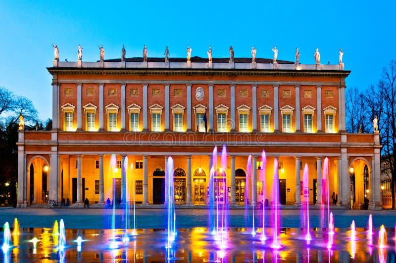 Reggio Emilia - teatro comunale immagini stock