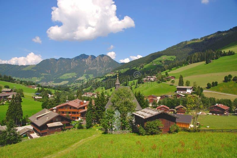 Região das férias de Alpbachtal, Tirol imagem de stock royalty free