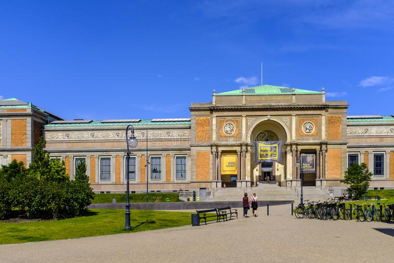 Região de Dinamarca - de Zealand - centro da cidade de Copenhaga - galão nacional imagens de stock royalty free