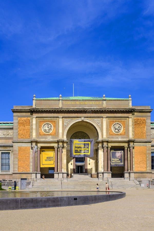 Região de Dinamarca - de Zealand - centro da cidade de Copenhaga - galão nacional fotografia de stock
