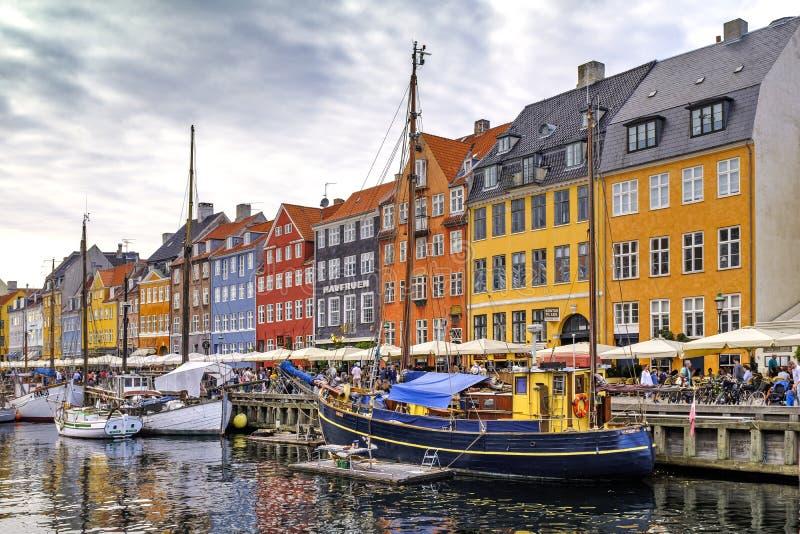 Região de Dinamarca - de Zealand - centro da cidade de Copenhaga - vi panorâmico imagem de stock royalty free