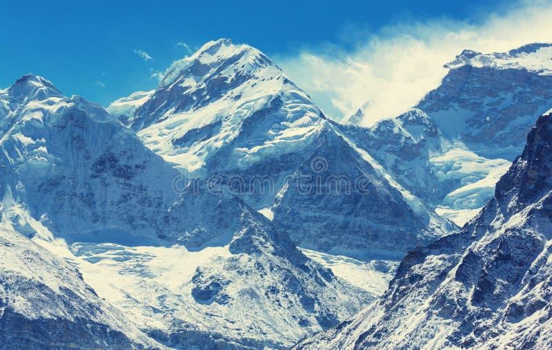 Região de Kanchenjunga imagem de stock royalty free