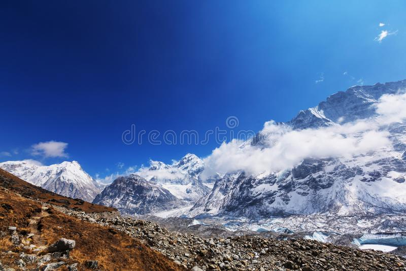 Região de Kanchenjunga fotografia de stock