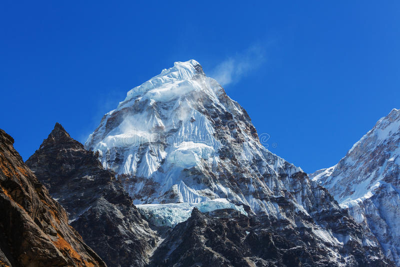 Região de Kanchenjunga fotos de stock royalty free