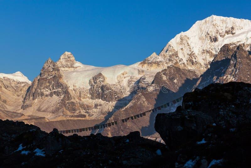 Região de Kanchenjunga foto de stock