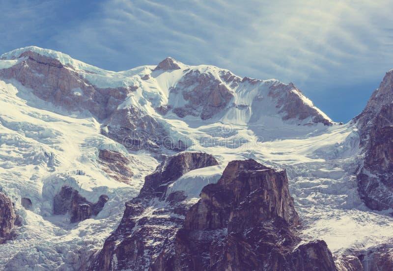 Região de Kanchenjunga imagens de stock