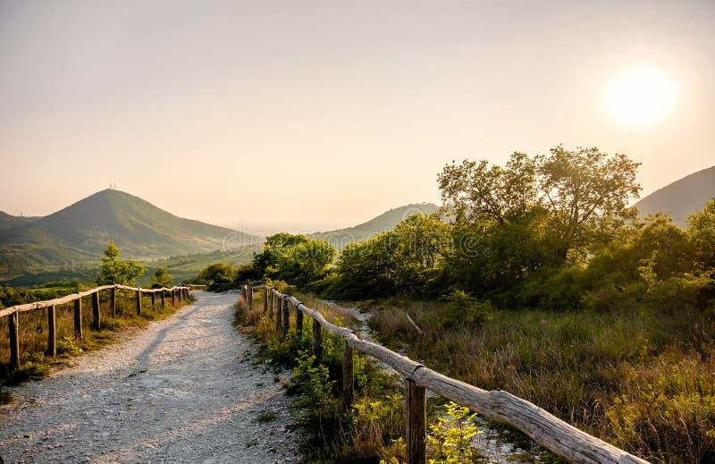 Região de Pádua Itália Vêneto da fuga de Pianoro del Mottolone da área dos montes de Euganean imagem de stock royalty free