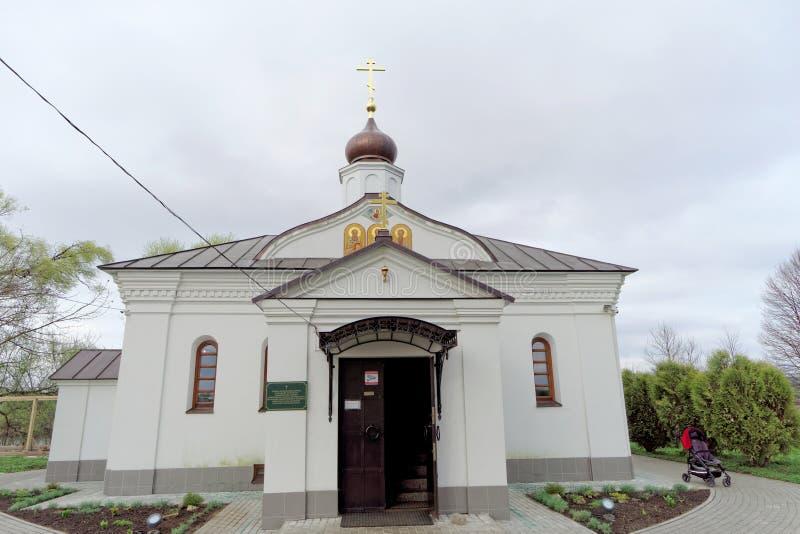 Região de Vladimir, Rússia - 6 de maio 2018 Igreja do Intercession no Nerl foto de stock