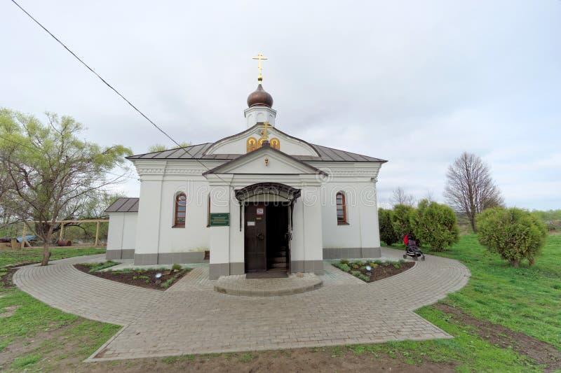 Região de Vladimir, Rússia - 6 de maio 2018 Igreja do Intercession no Nerl fotografia de stock