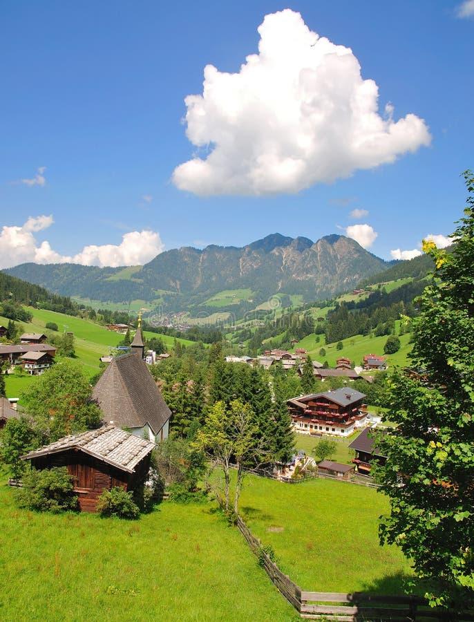 Região do feriado de vale do alpbach imagens de stock royalty free