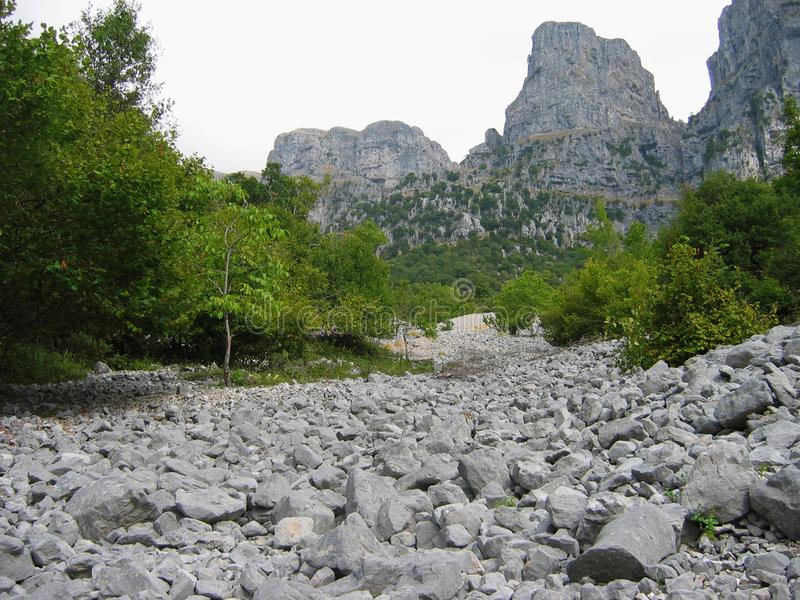 Região Grécia de Epirus do pico de Astraka imagens de stock royalty free