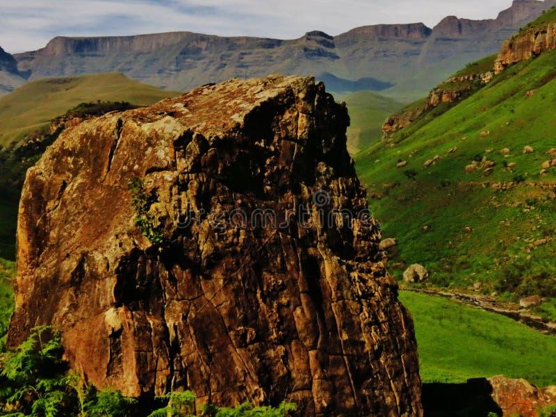 A região selvagem de Drakensberg imagens de stock