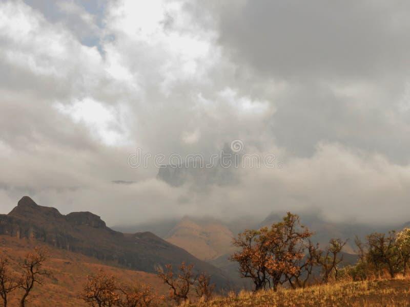 Região selvagem de Drakensberg foto de stock royalty free