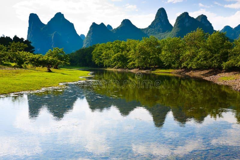 Região selvagem de Guilin imagem de stock
