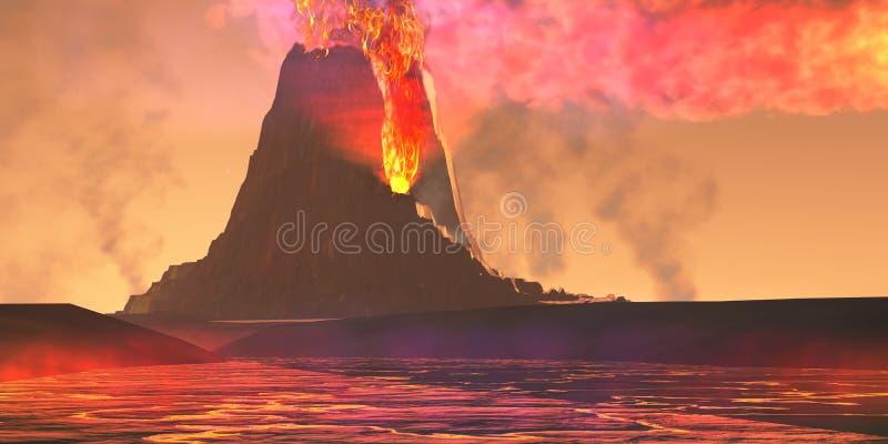 Região vulcânica ilustração stock