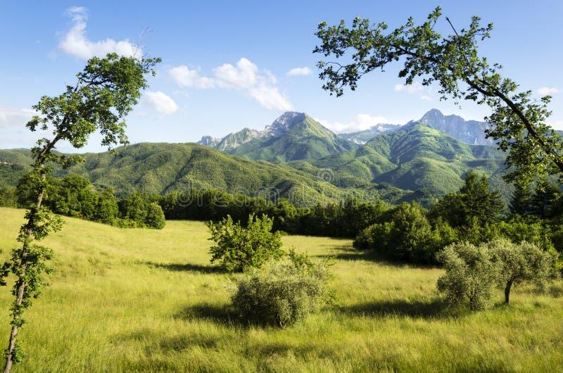 Región de Garfagnana, Italia foto de archivo
