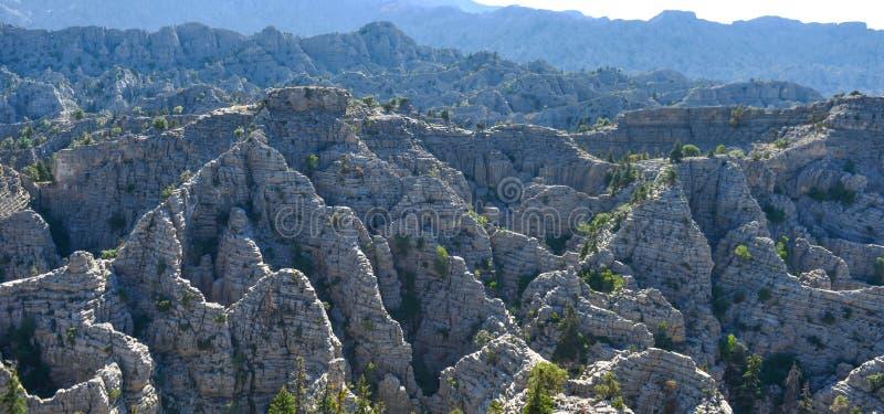 Región de los acantilados de Lapya y acantilados del diablo fotos de archivo libres de regalías