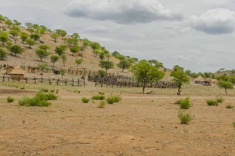Región de Namibia - de Opuwo - de Kunene fotos de archivo