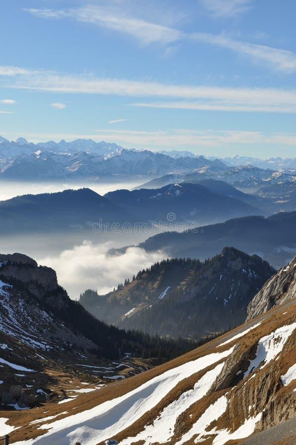 Región suiza 2017 de Pilatus de las montañas fotografía de archivo