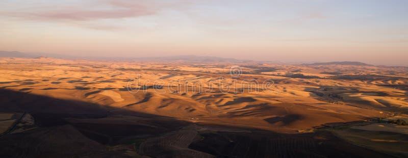 Región Washington State Farmland del este de Rolling Hills Palouse imagen de archivo libre de regalías