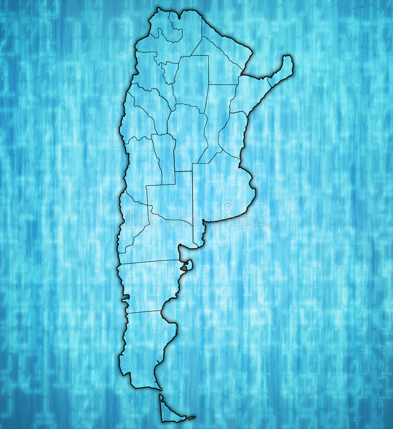 Regiões de Argentina no mapa ilustração stock