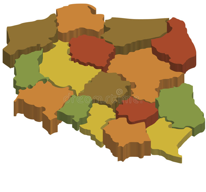 Regiões em poland ilustração do vetor