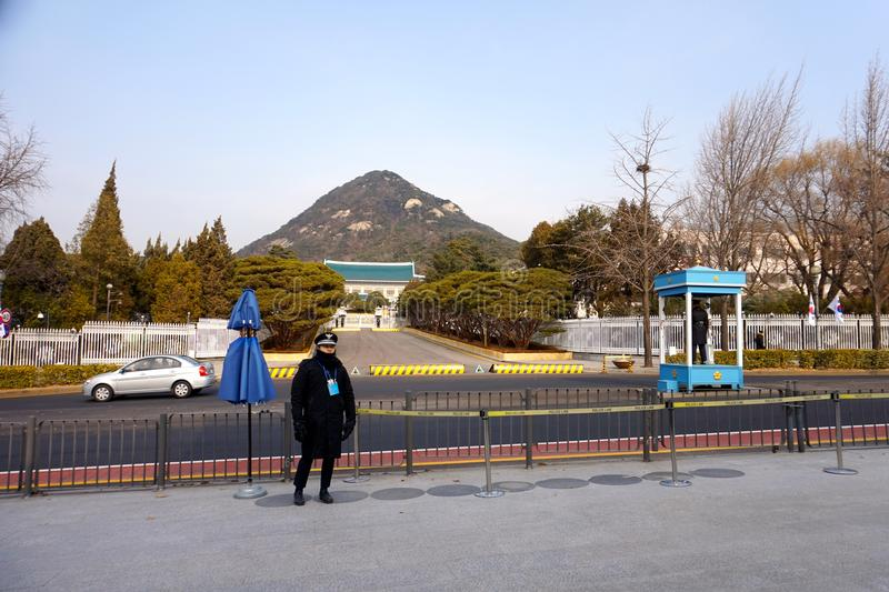 Regierungseingangsgebäude in Seoul, Südkorea stockfotos