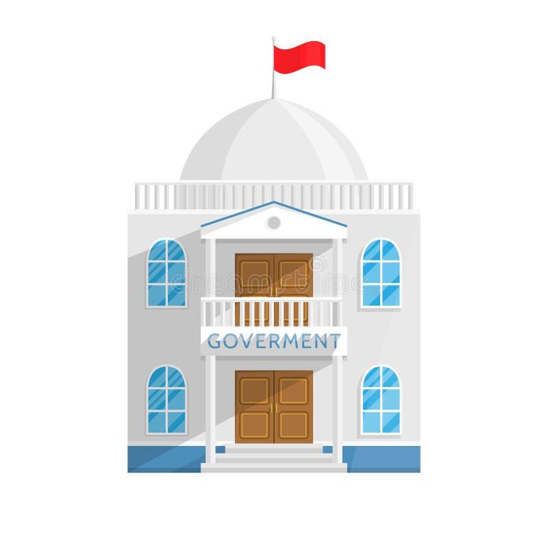 Regierungsgebäude in der flachen Art lokalisiert auf weißem Hintergrund vektor abbildung