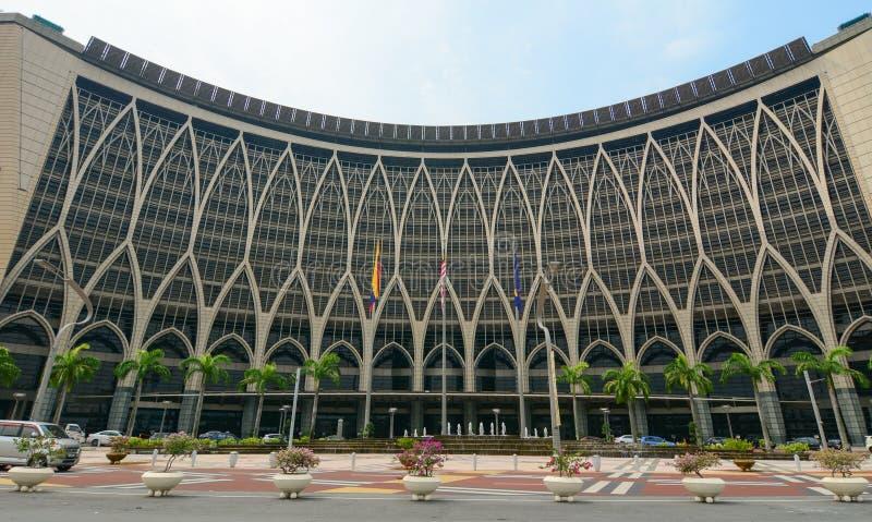 Regierungsgebäude in Putrajaya, Malaysia stockfotos