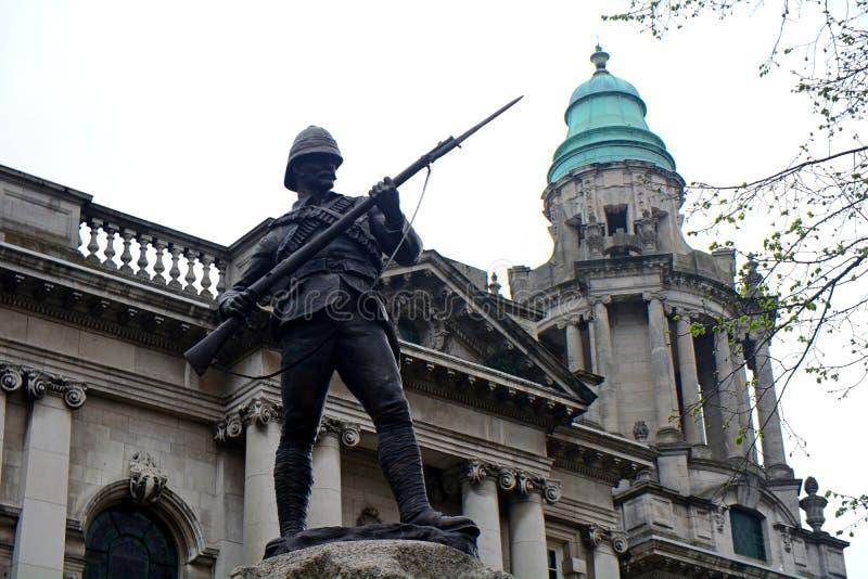 Regiment Boer War Memorial, Belfast, Northern Ireland. Regiment Boer War Memorial in Belfast, Northern Ireland stock images