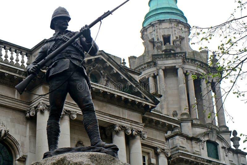 Regiment Boer War Memorial, Belfast, Northern Ireland. Regiment Boer War Memorial in Belfast, Northern Ireland royalty free stock photography