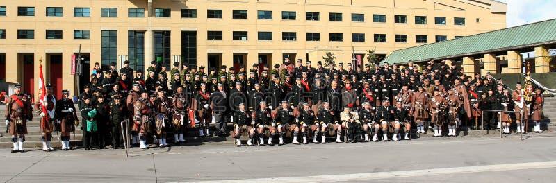 Regimiento escocés 1 de Toronto fotografía de archivo
