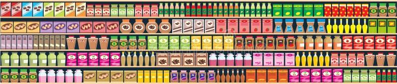 Regimientos inconsútiles con la bandera de los productos libre illustration