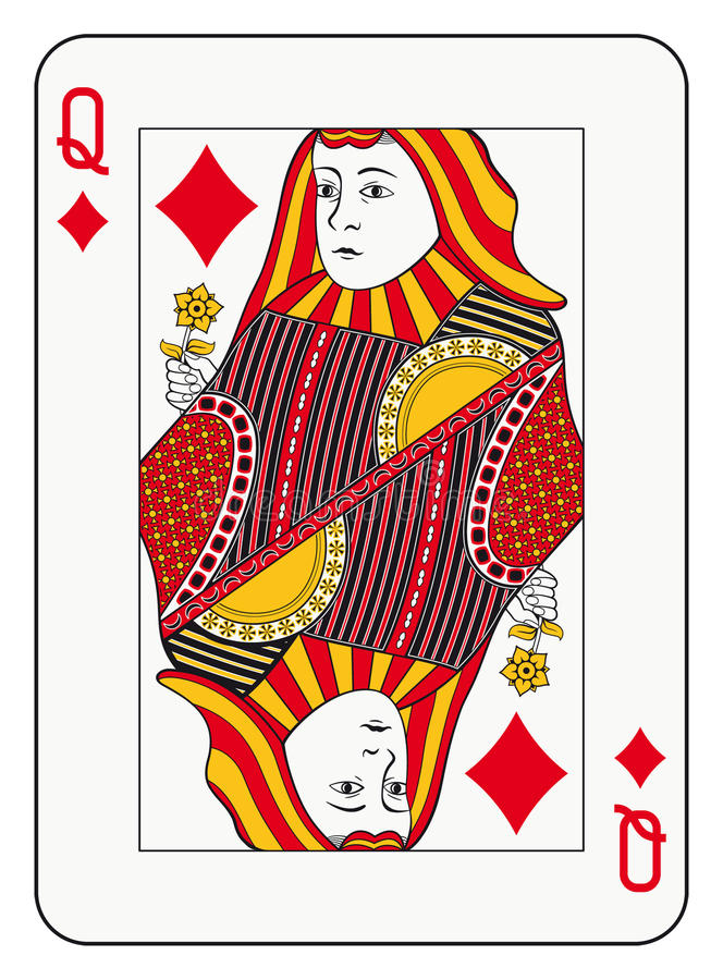 Regina dei diamanti illustrazione di stock
