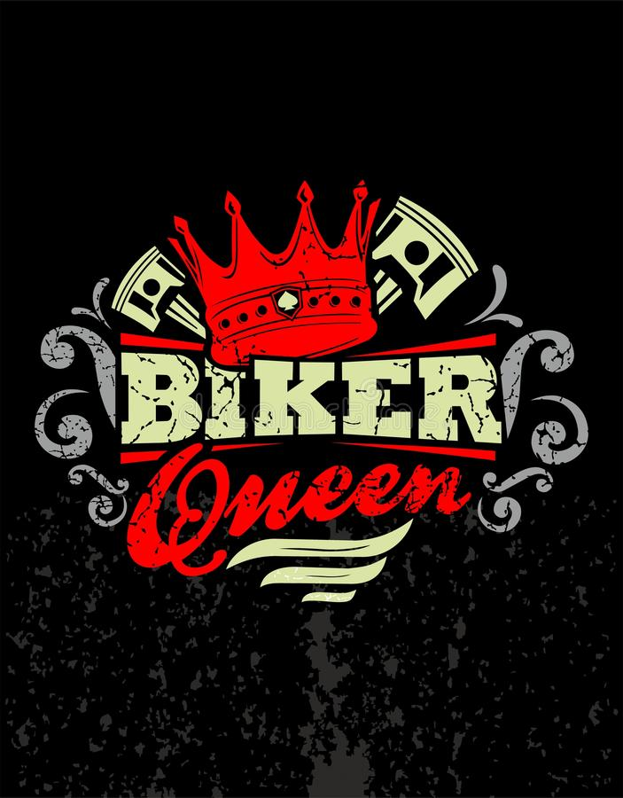 Regina del motociclista royalty illustrazione gratis
