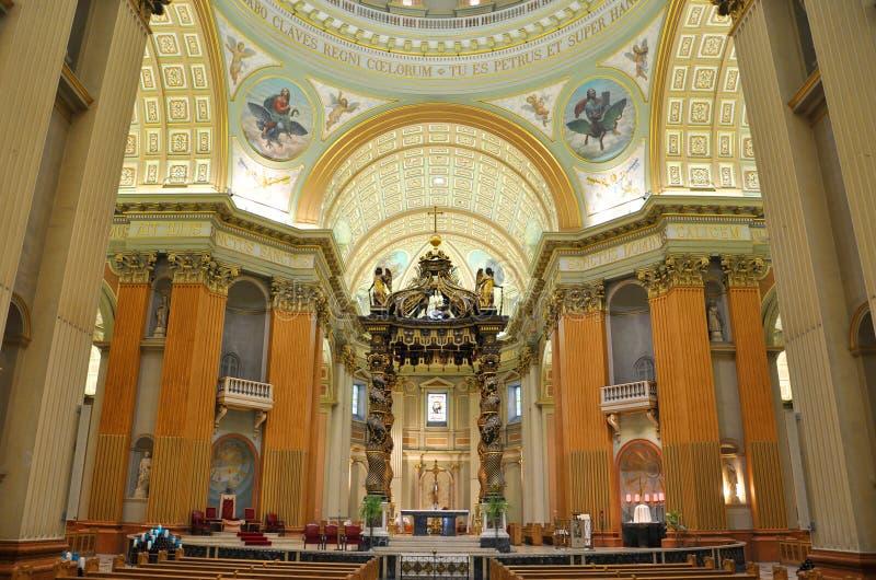 Regina della cattedrale del mondo, Montreal della Mary immagini stock