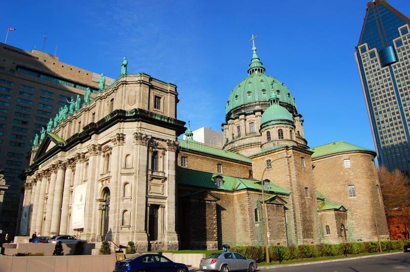 Regina della Mary della cattedrale del mondo a Montreal fotografie stock