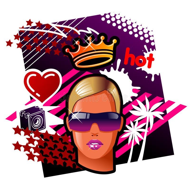 Regina della rave royalty illustrazione gratis