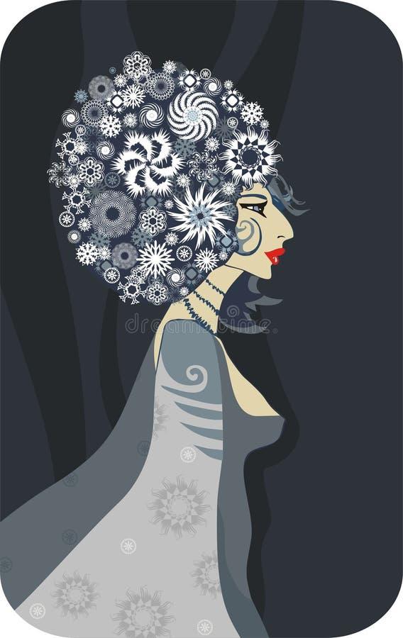 Download Regina di inverno illustrazione vettoriale. Illustrazione di orli - 7323759