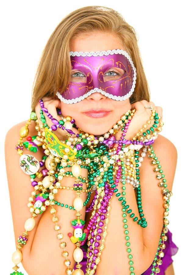 Regina di Mardi Gras nella mascherina fotografia stock