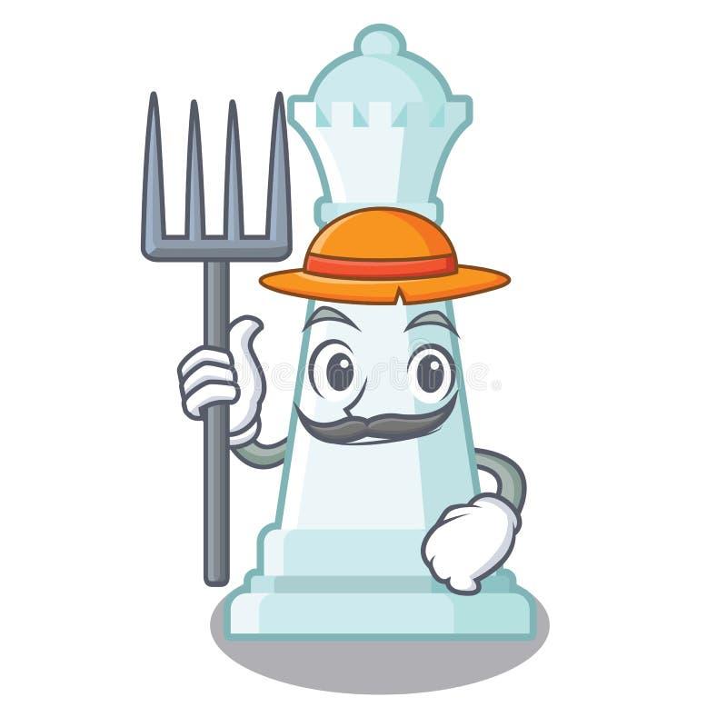 Regina di scacchi dell'agricoltore isolata nel carattere royalty illustrazione gratis