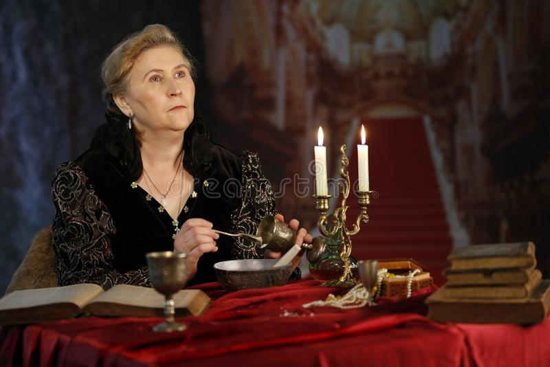 Regina diabolica medievale fotografie stock