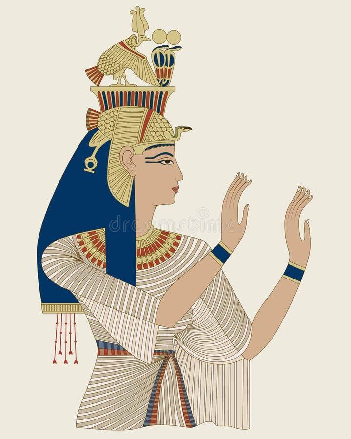 Regina egiziana Taia illustrazione di stock