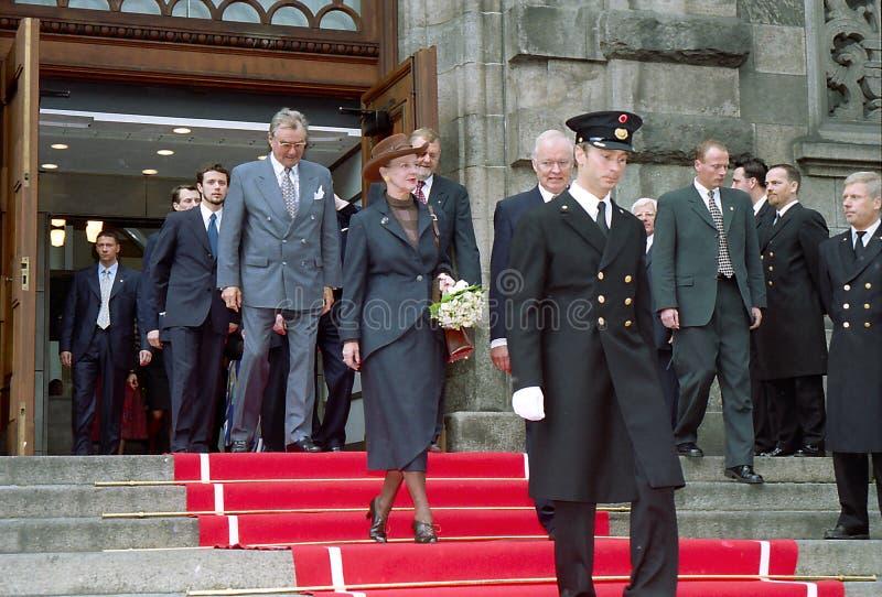 Regina Margrethe della Danimarca fotografia stock