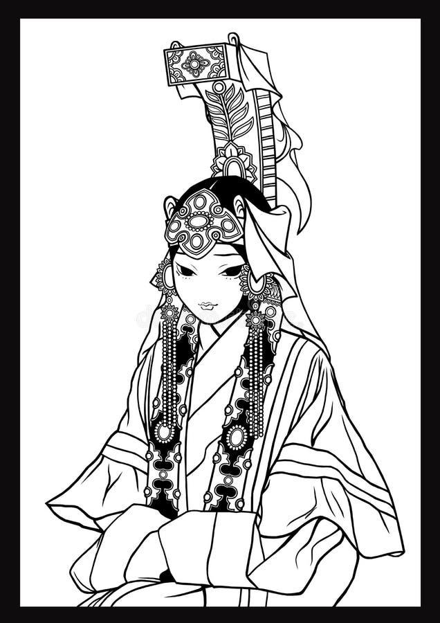Regina mongola illustrazione di stock