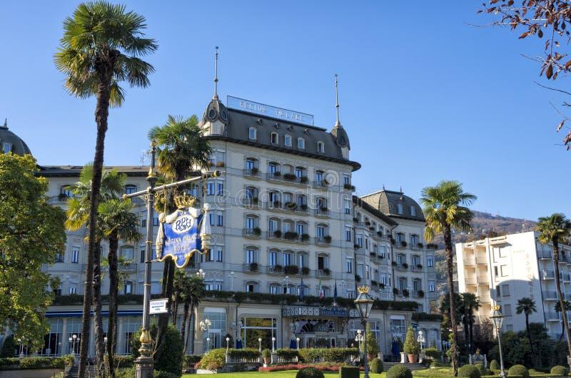 Regina Palace Hotel em Stresa, Itália foto de stock royalty free
