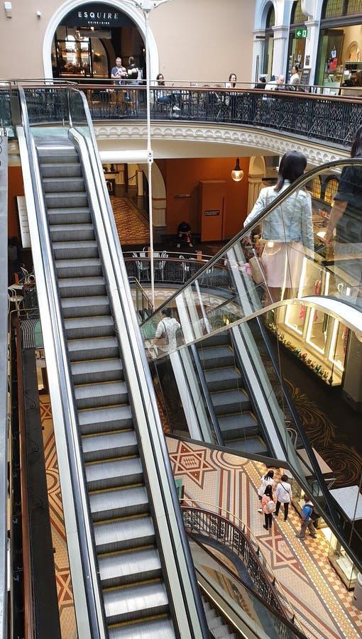 Regina Victoria Building Mall Escalators immagine stock libera da diritti