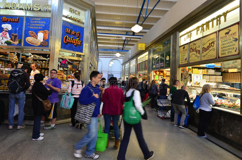 Regina Victoria Market - Melbourne immagini stock libere da diritti