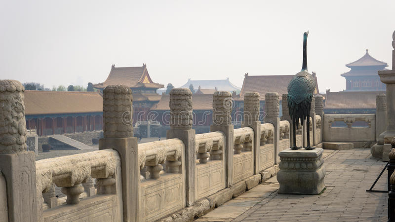 Reginald Johnston`s house inside the Forbidden City, Beijing, China. stock images